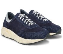 Mono Runner Panelled Suede Sneakers