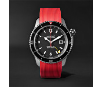 Oracle II Black Automatic GMT 43mm Titanium and Rubber Watch