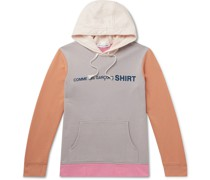 Logo-Print Colour-Block Loopback Cotton-Jersey Hoodie