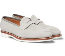 Capri Suede Penny Loafers