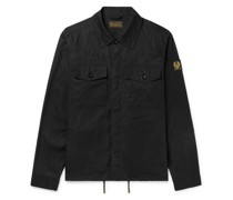 Recon Logo-Appliquéd Waxed Cotton-Ripstop Overshirt