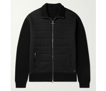 Ribbed Wool and Quilted Shell Jacket