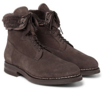 Shearling-lined Suede Boots