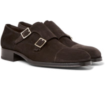 Edgar Suede Monk-strap Shoes