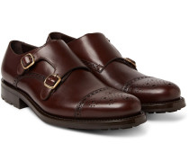Bristol Weatherproof Leather Monk-strap Shoes
