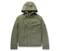 Cotton-Twill Jacket with Detachable Ripstop and Shearling Liner