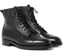 Galway Cap-toe Full-grain Leather Boots