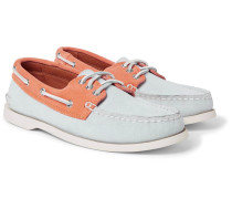 Downeast Two-tone Suede Boat Shoes