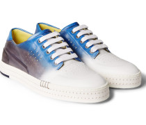 Playtime Dégradé Polished-leather Sneakers