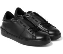 Rockstud Leather Slip-on Sneakers