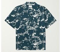 Carsten Camp-Collar Printed Cotton Shirt