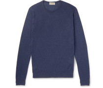 Theon Slim-Fit Sea Island Cotton and Cashmere-Blend Sweater