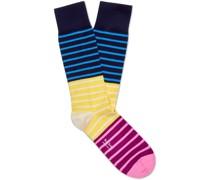 Quay Striped Cotton-Blend Socks