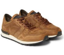 Panelled Nubuck Sneakers