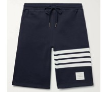 Striped Loopback Cotton-Jersey Shorts