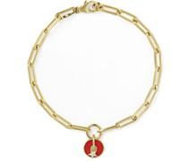 Classic Fob 18-Karat Gold, Enamel and Diamond Bracelet