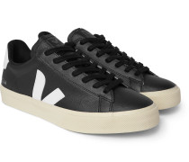Campo Rubber-Trimmed Full-Grain Leather Sneakers