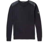 Kerrigan Quilted Shell-trimmed Virgin Wool Sweater