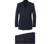 Harry's Navy Super 120s Wool And Cashmere-blend Suit