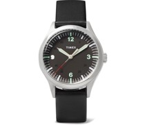 Waterbury 38mm Stainless Steel and Leather Watch