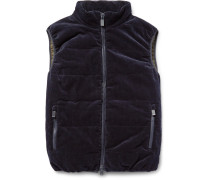 Quilted Cotton-corduroy Gilet