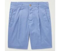 Slub Linen-Blend Shorts