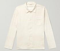 Striped Textured Cotton-Blend Shirt