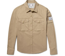 Slim-fit Cotton-gabardine Overshirt