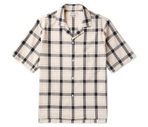 Elm Camp-collar Checked Cotton Shirt
