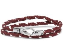 Woven Leather Wrap Bracelet