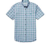 Brit Slim-fit Checked Cotton-seersucker Shirt