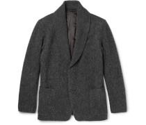 Raschel Shawl-collar Bouclé Jacket