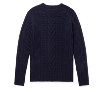 Supercult Cable-Knit Virgin Wool Sweater