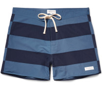 Grant Mid-length Striped Swim Shorts