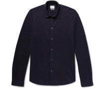 Slim-fit Cotton-blend Piqué Shirt