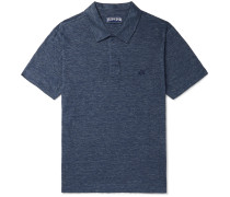 Pyramid Slub Linen-Jersey Polo Shirt