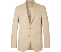 Sand Kei Slim-fit Stretch-cotton Suit Jacket