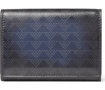 Imbuia Pythagora Patterned Leather Bifold Cardholder