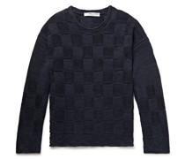 Linen and Silk-Blend Jacquard Sweater
