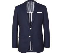 Navy Hartlay Slim-fit Wool Blazer