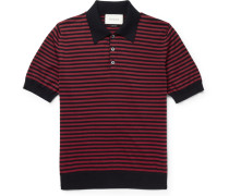Slim-fit Striped Cotton And Cashmere-blend Polo Shirt