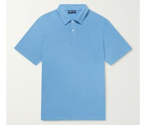 Constantino Slim-Fit Cotton and Linen-Blend Jersey Polo Shirt