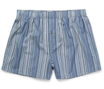 Striped Cotton Boxer Shorts