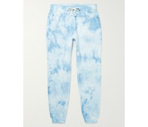 Slim-Fit Tapered Tie-Dyed Loopback Cotton-Jersey Sweatpants