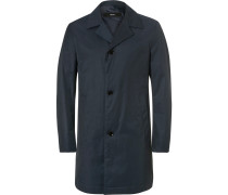 Slim-fit Water-repellent Cotton-blend Twill Coat