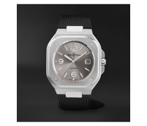 BR 05 Grey Steel Automatic 40mm Stainless Steel and Rubber Watch, Ref. No. BR05A-GR-ST/SRB