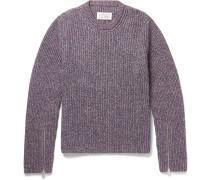 Mélange Cotton-blend Sweater