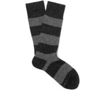 Striped Mélange Knitted Socks