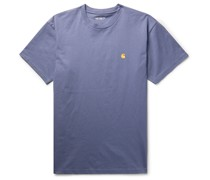 Logo-Embroidered Combed Cotton-Jersey T-Shirt