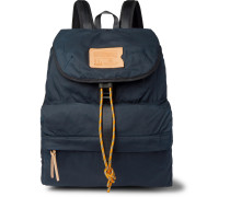 Bayou Leather-Trimmed Waxed Cotton-Ripstop Backpack
